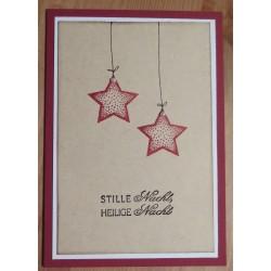Weihnachtskarte mit Sternenkette