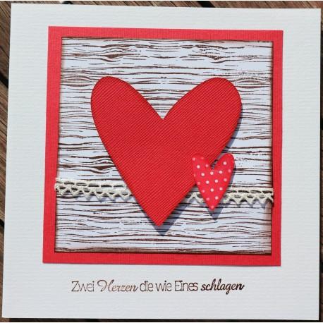 Hochzeitskarte Herz rot