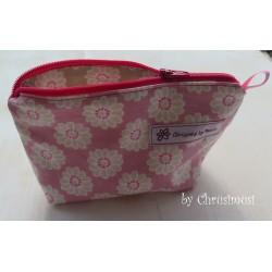 Handtaschentäschli Blumen rosa